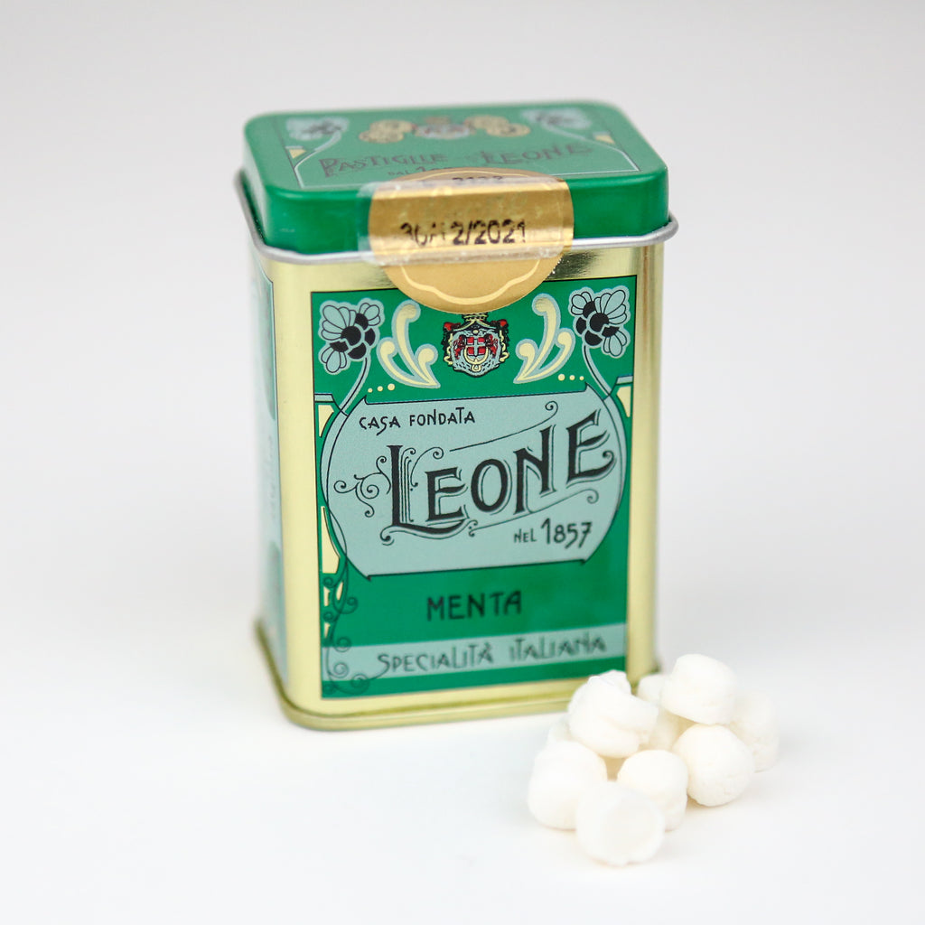 Leone Mint Pastilles in a Tin
