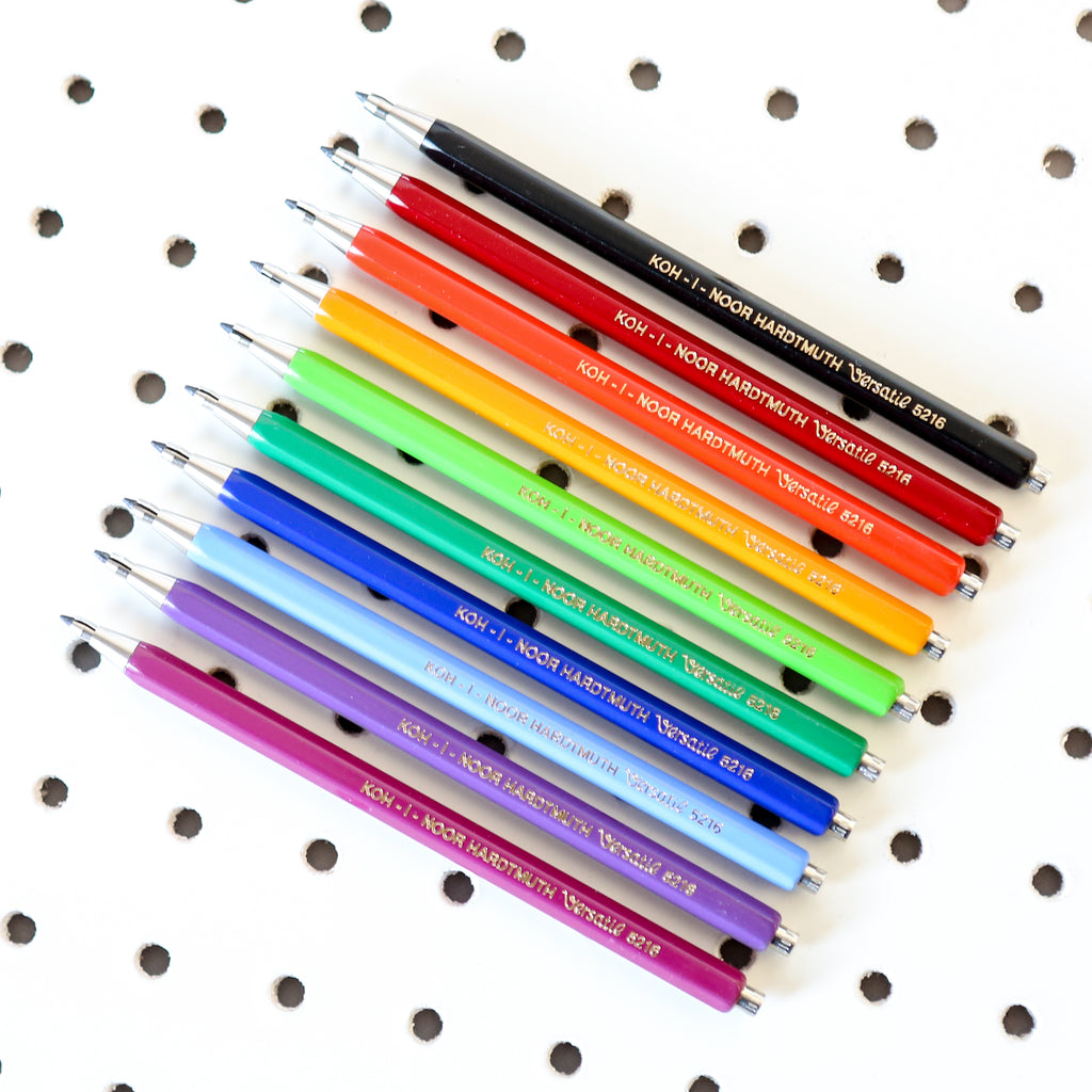 Long Mechanical Graphite Lead Clutch Pencil