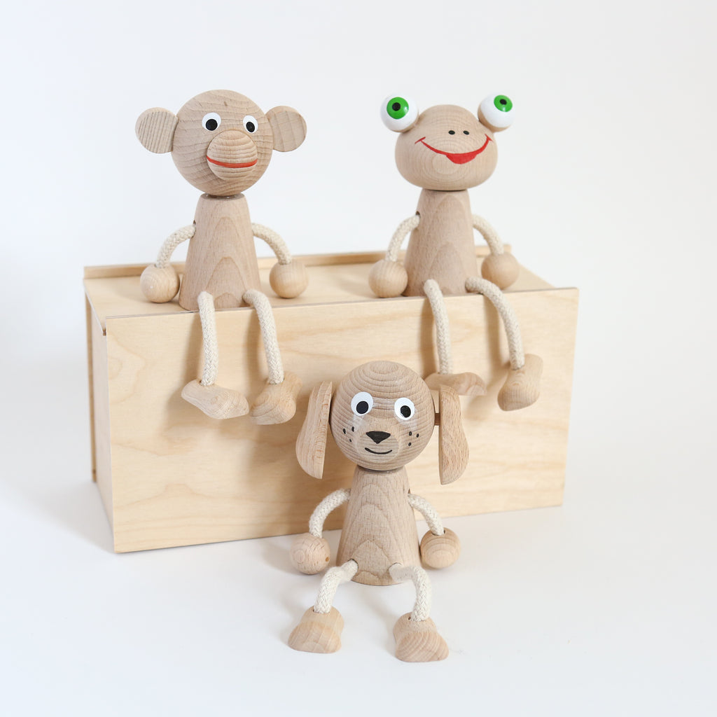 Sitting Wooden Monkey