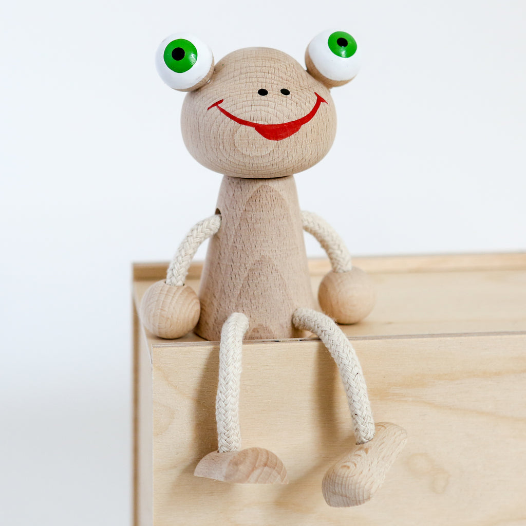 Sitting Wooden Frog
