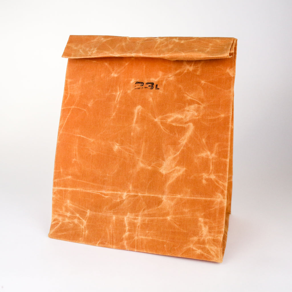 Waxed Cotton Grocery Bag - 23L Brown