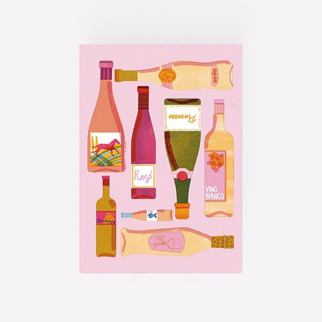 A4 White Wine Digital Print