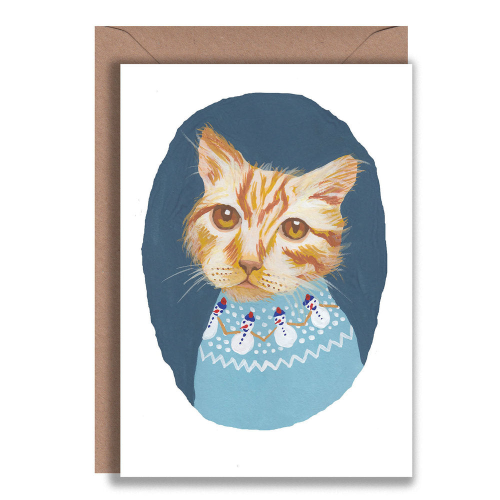 Ginger Cat Christmas Jumper Card