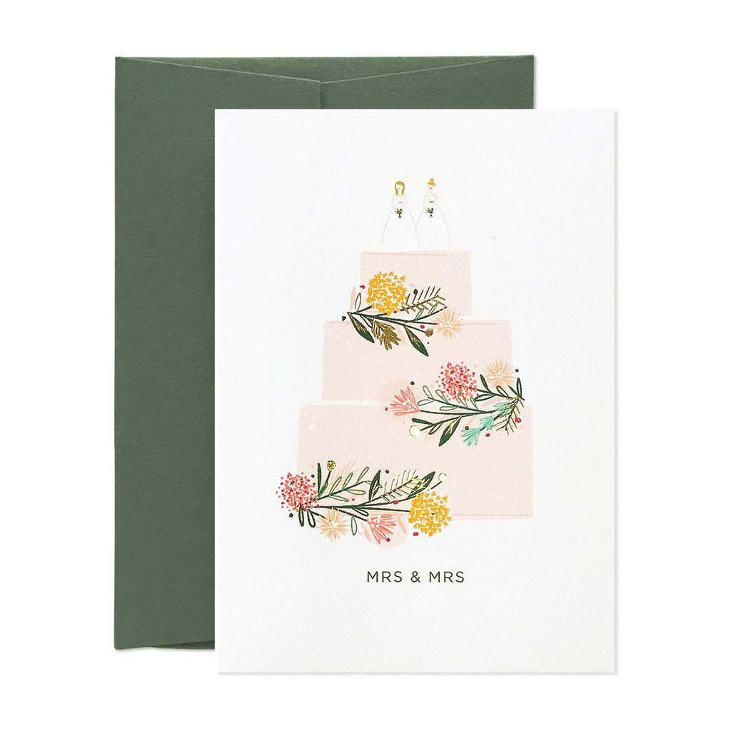 Mrs & Mrs Just Married Card