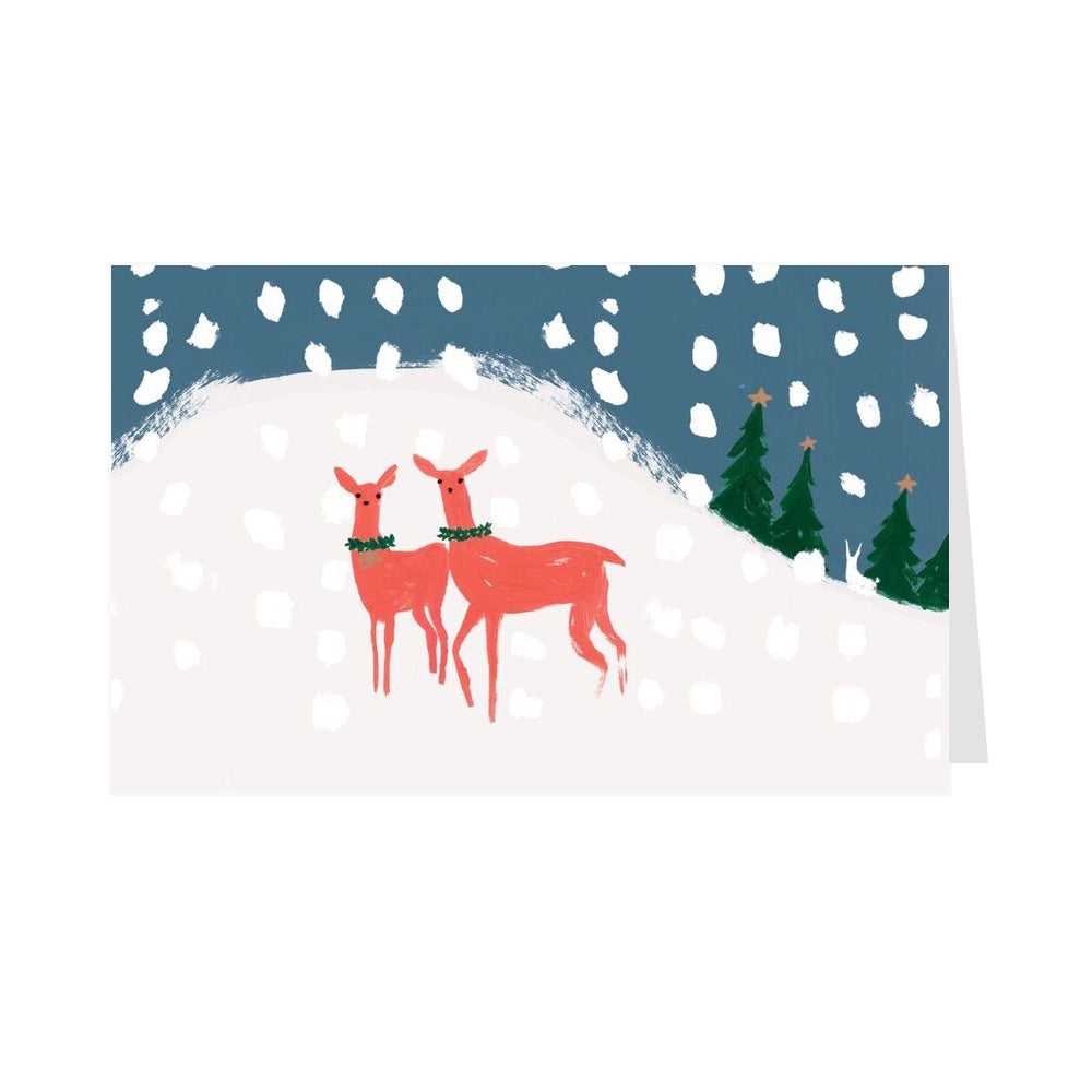 Deers in The Snow - Pack of 8 Christmas Cards