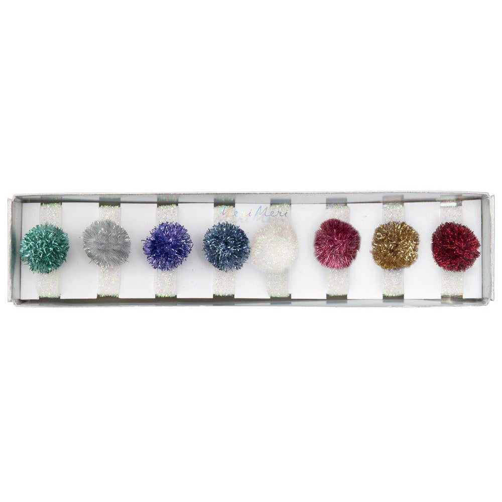 Tinsel Pom pom Hair Bands