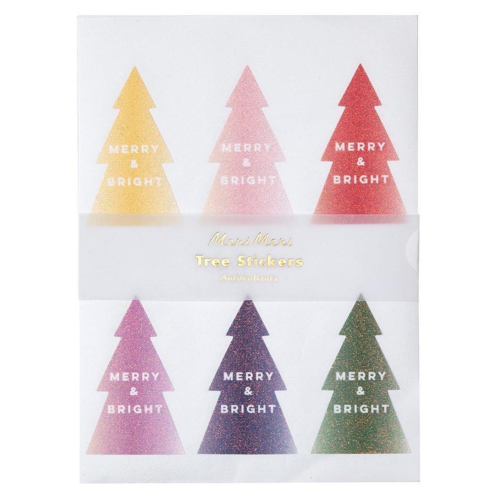 Glitter Ombre Christmas Tree Sticker Sheets