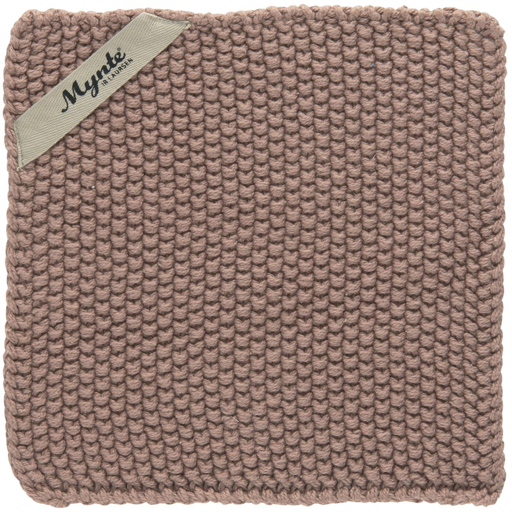 Knitted Pot Holder / Cloth- Soft Pink