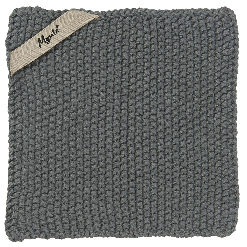 Knitted Pot Holder / Cloth- Moss