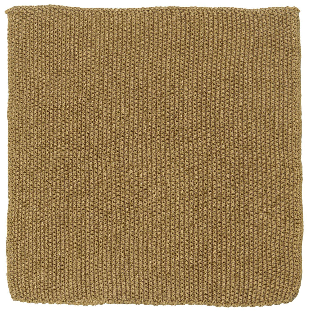 Knitted Cotton Dish Cloth - Mustard