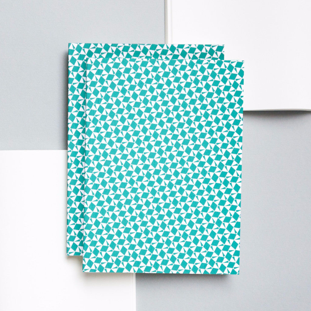 Turquoise Victor Print Layflat Notebook