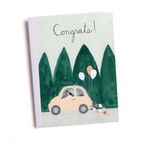 Wedding Car Greetings Card