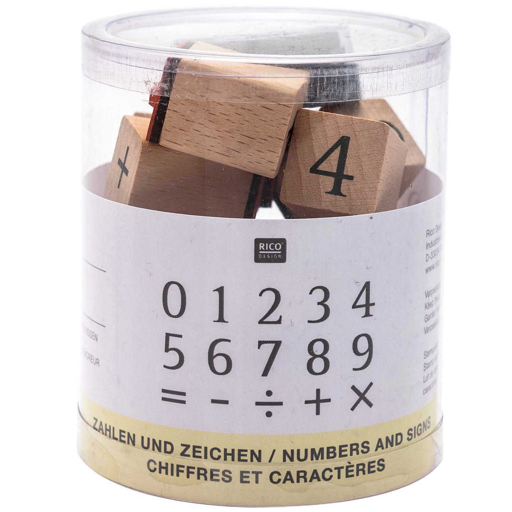 Rubber Stamp Set - Number and Signs