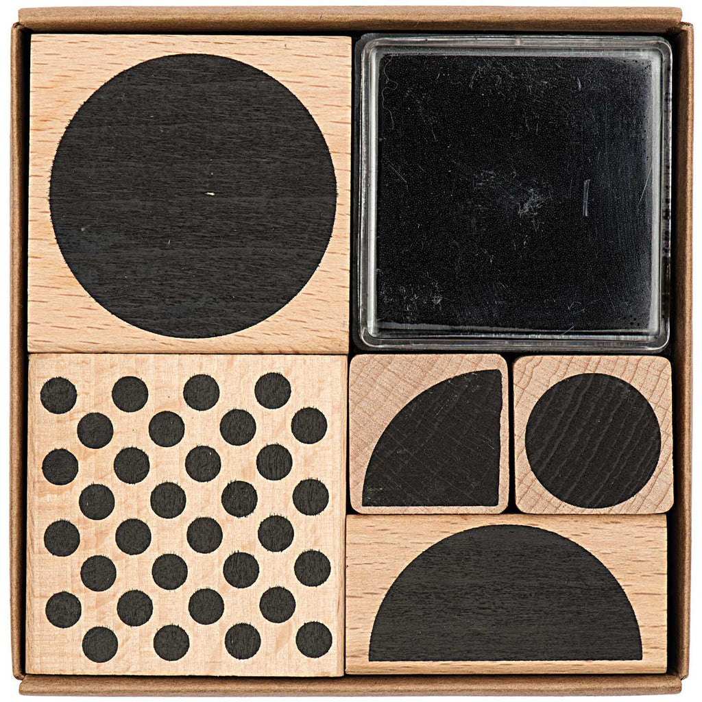 Stamp Set - Geometric Circles and Half Circles
