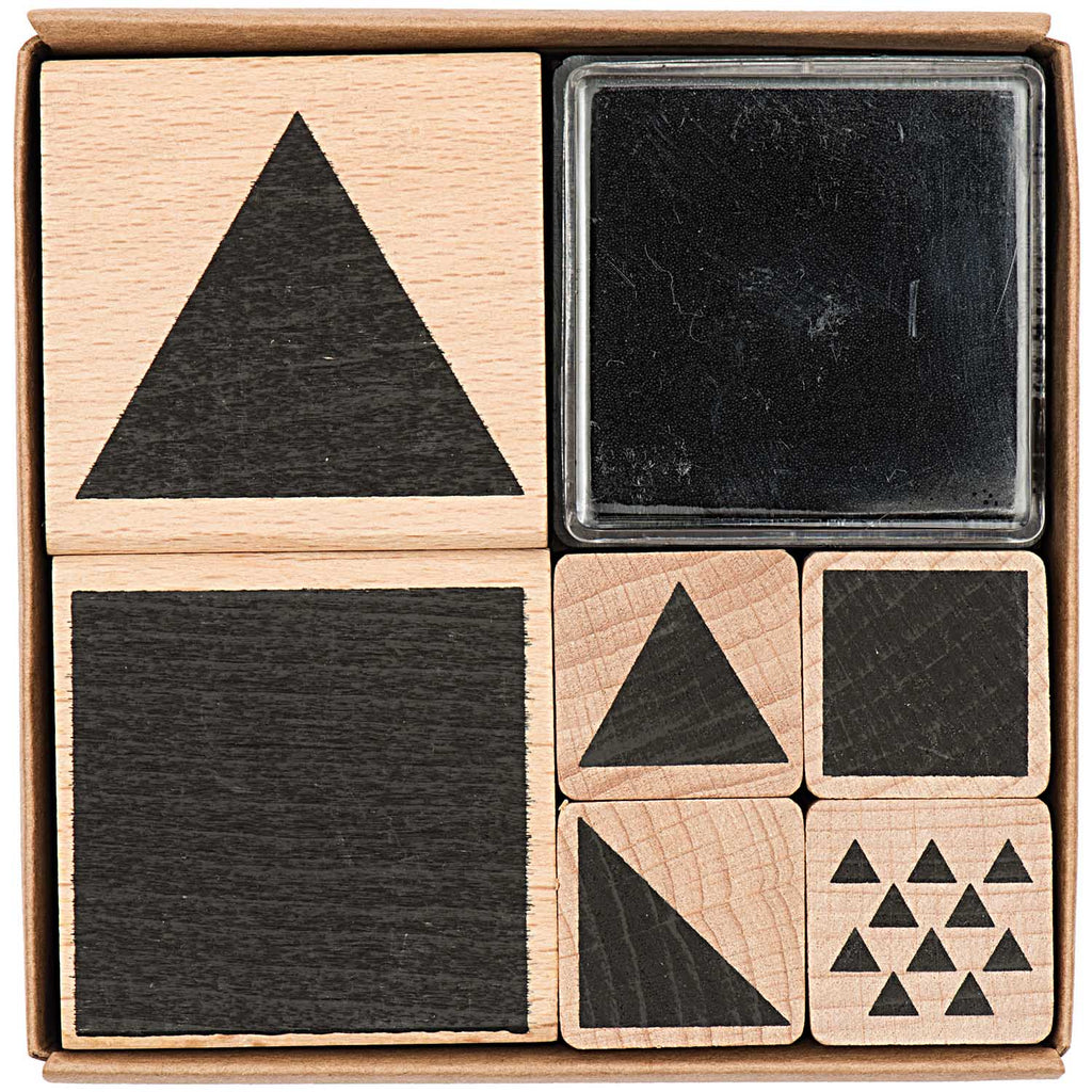 Stamp Set - Geometric Squares and Triangles