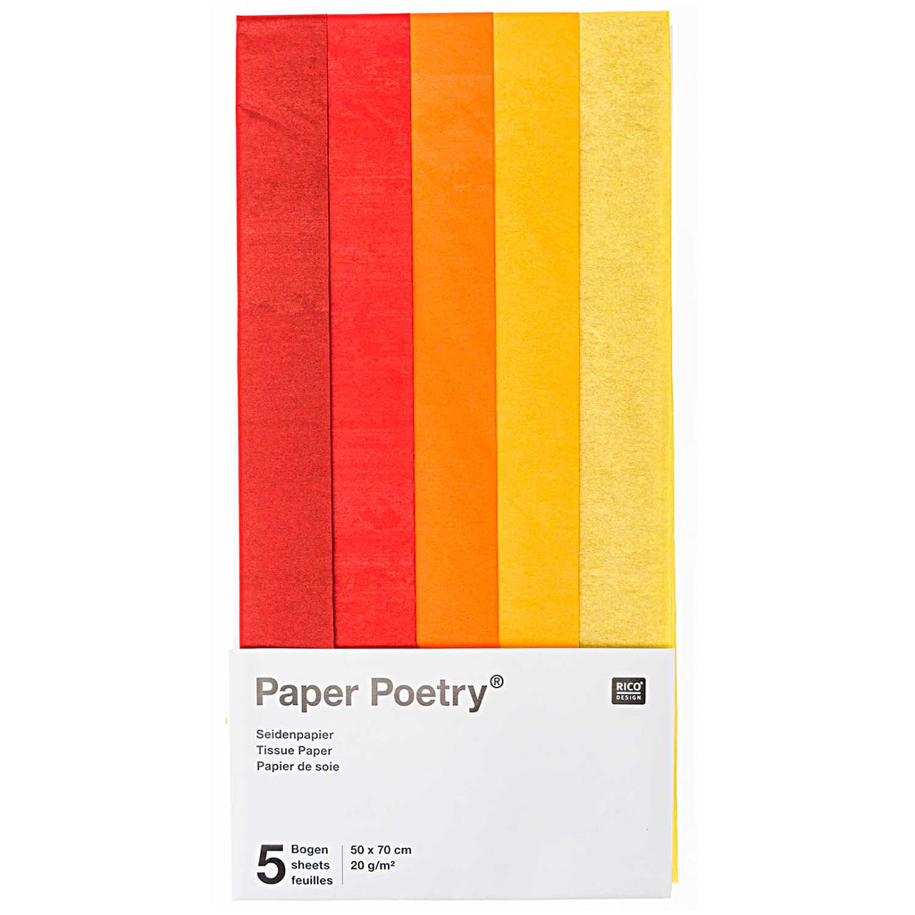 Tissue Paper Pack - Reds and Yellows