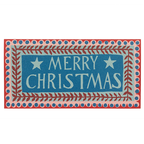 Pack of 6 Long Cards Merry Christmas Pattern