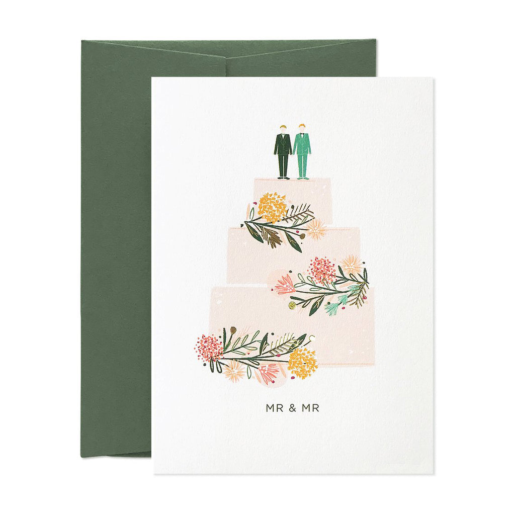 Mr & Mr Just Married Card