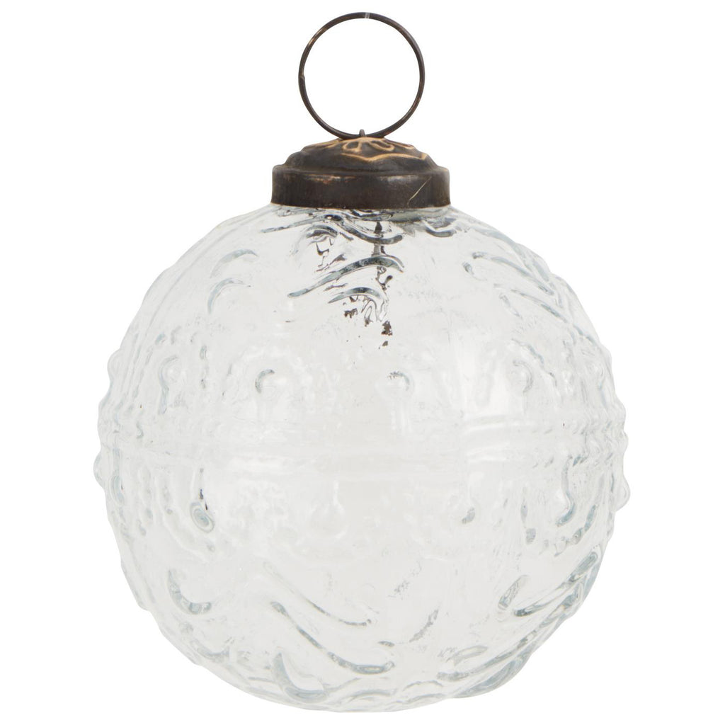 Wavy Pattern Christmas Bauble - Clear