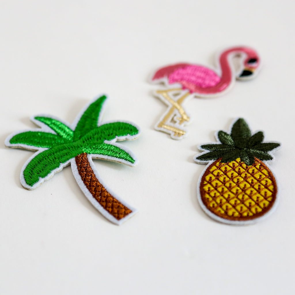 Tropical Iron On Patch Set