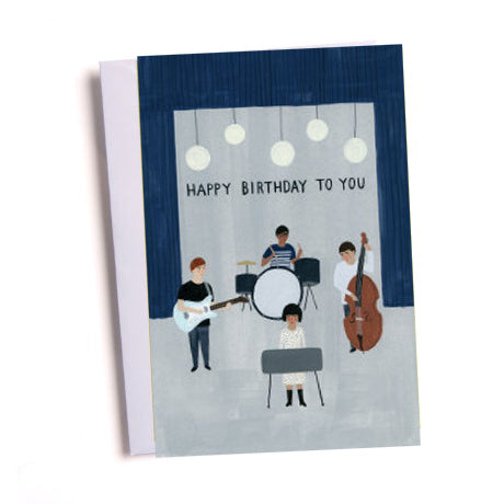 Birthday Band Greetings Card
