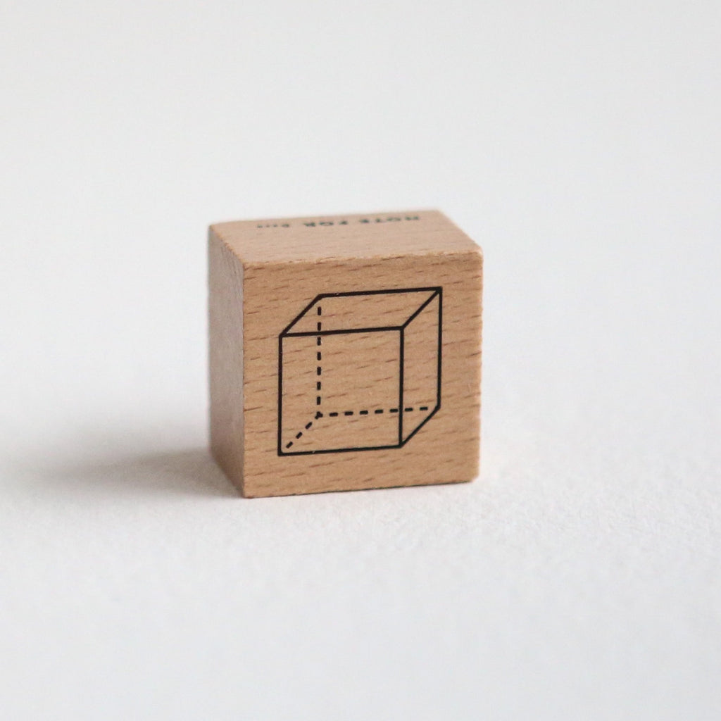 Mathematical Geometric Shape Rubber Stamp - 3D Cube