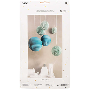 Paper Ball Lanterns - Blues
