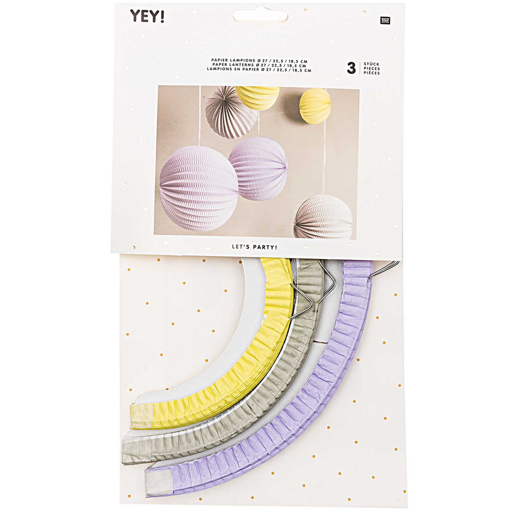 Paper Ball Lanterns - Pastels