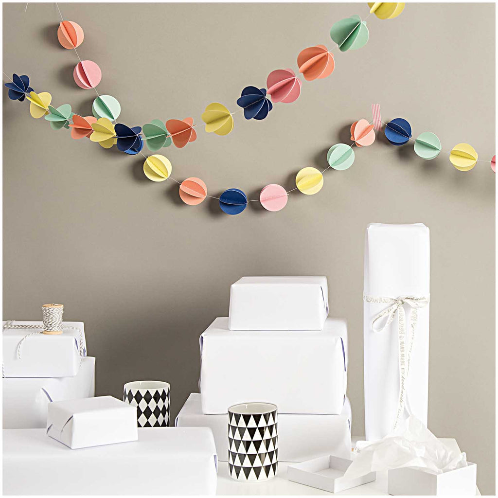 Stitched Paper Ball Garland