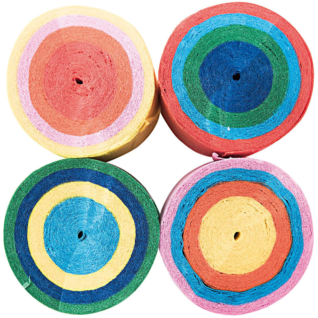 Crepe Paper Streamer Cakes - Bright