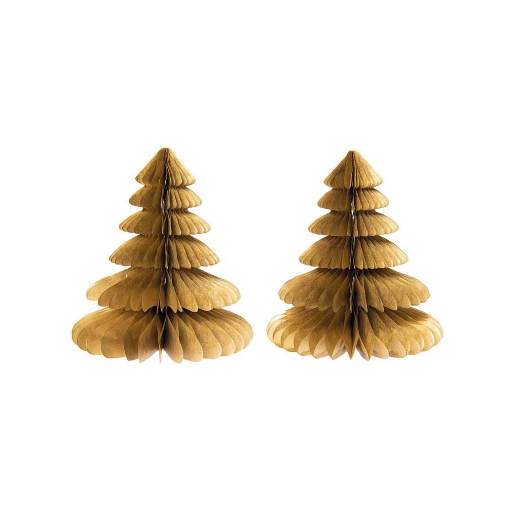 Honeycomb Christmas Trees - Gold