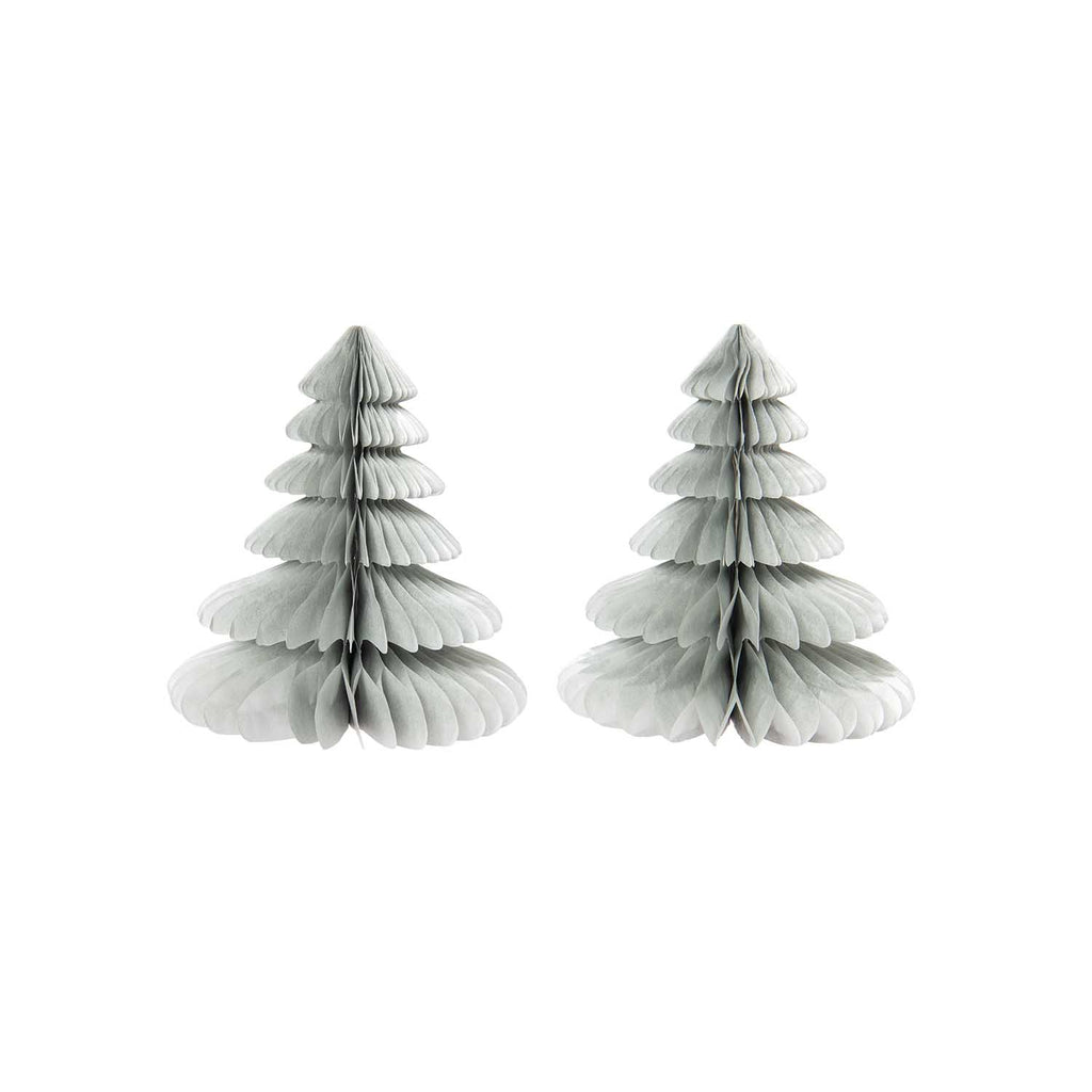 Honeycomb Christmas Trees - Silver