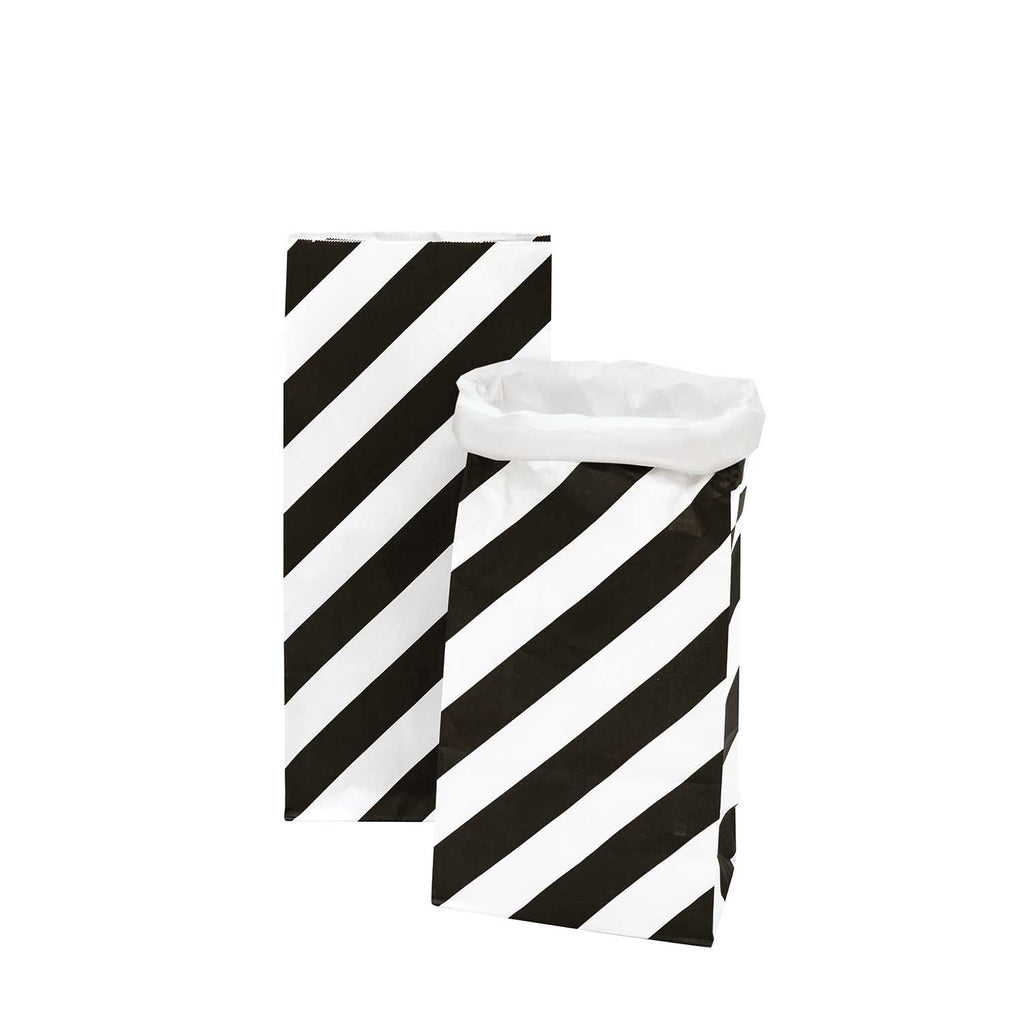 Block Bottom Paper Bags, Monochrome - Medium, 2 pieces