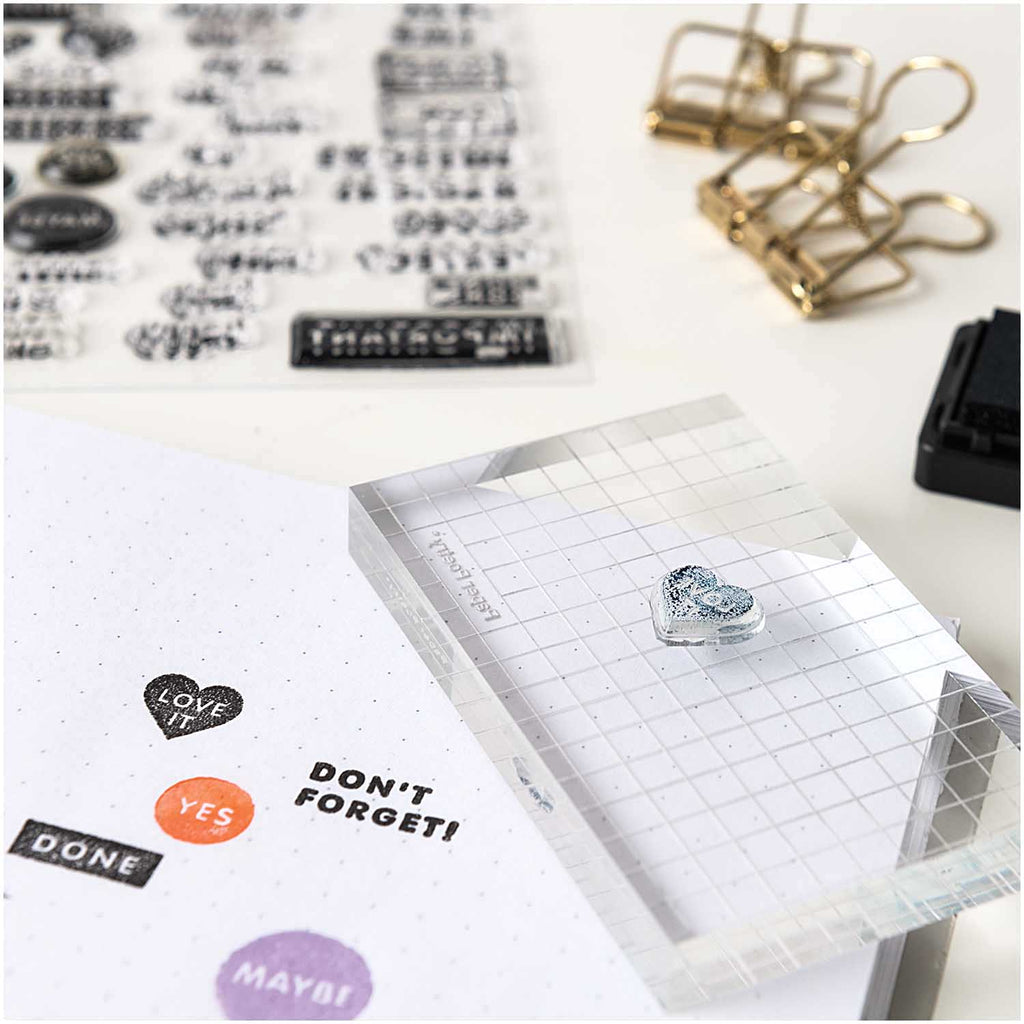 Silicone Rubber Stamp Set - Block Font