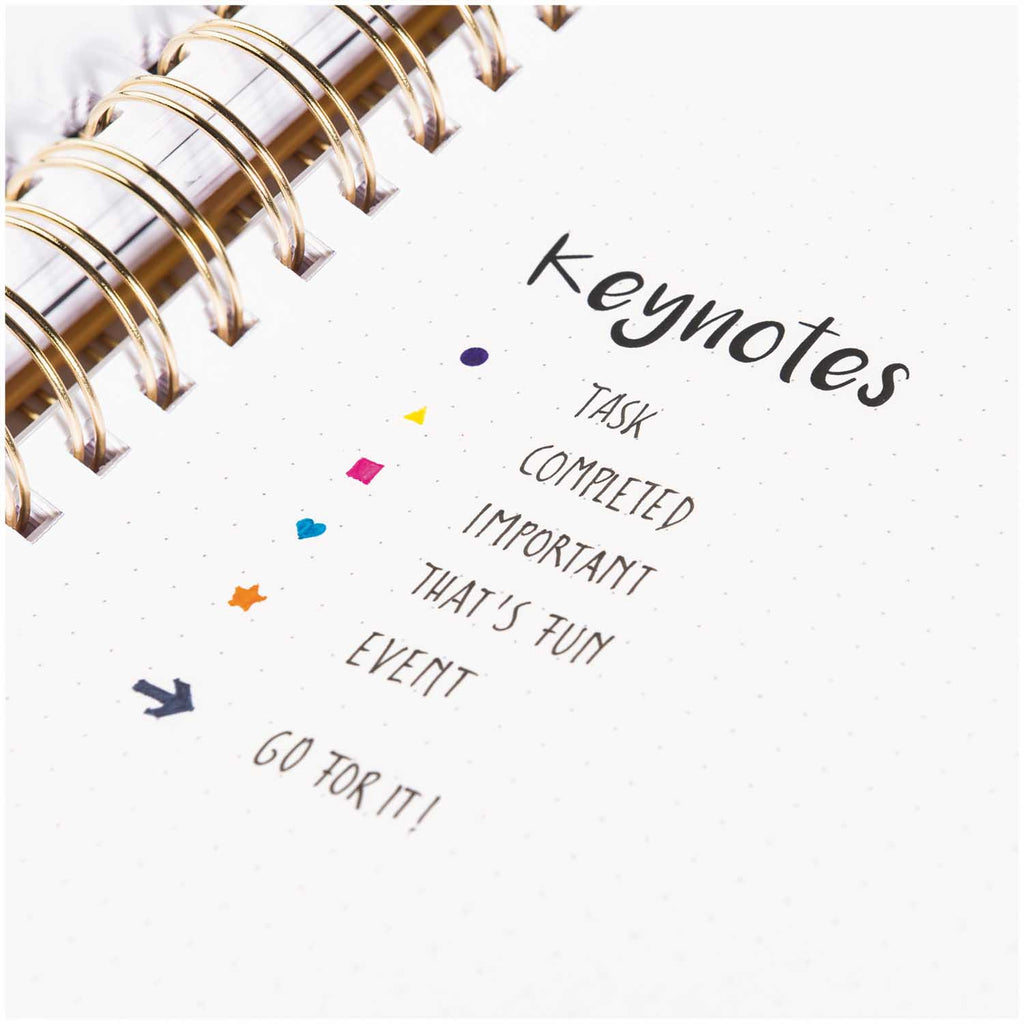 Plastic Bullet Journal Template - Arrows