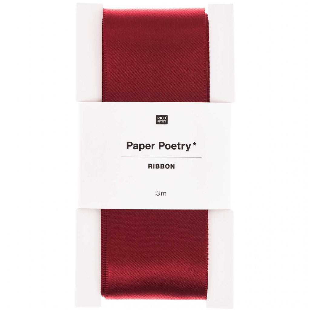 Extra Wide Present Ribbon - Deep Red 3m