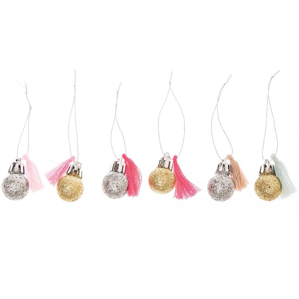 Neon Pastel Mini Bauble Decorations