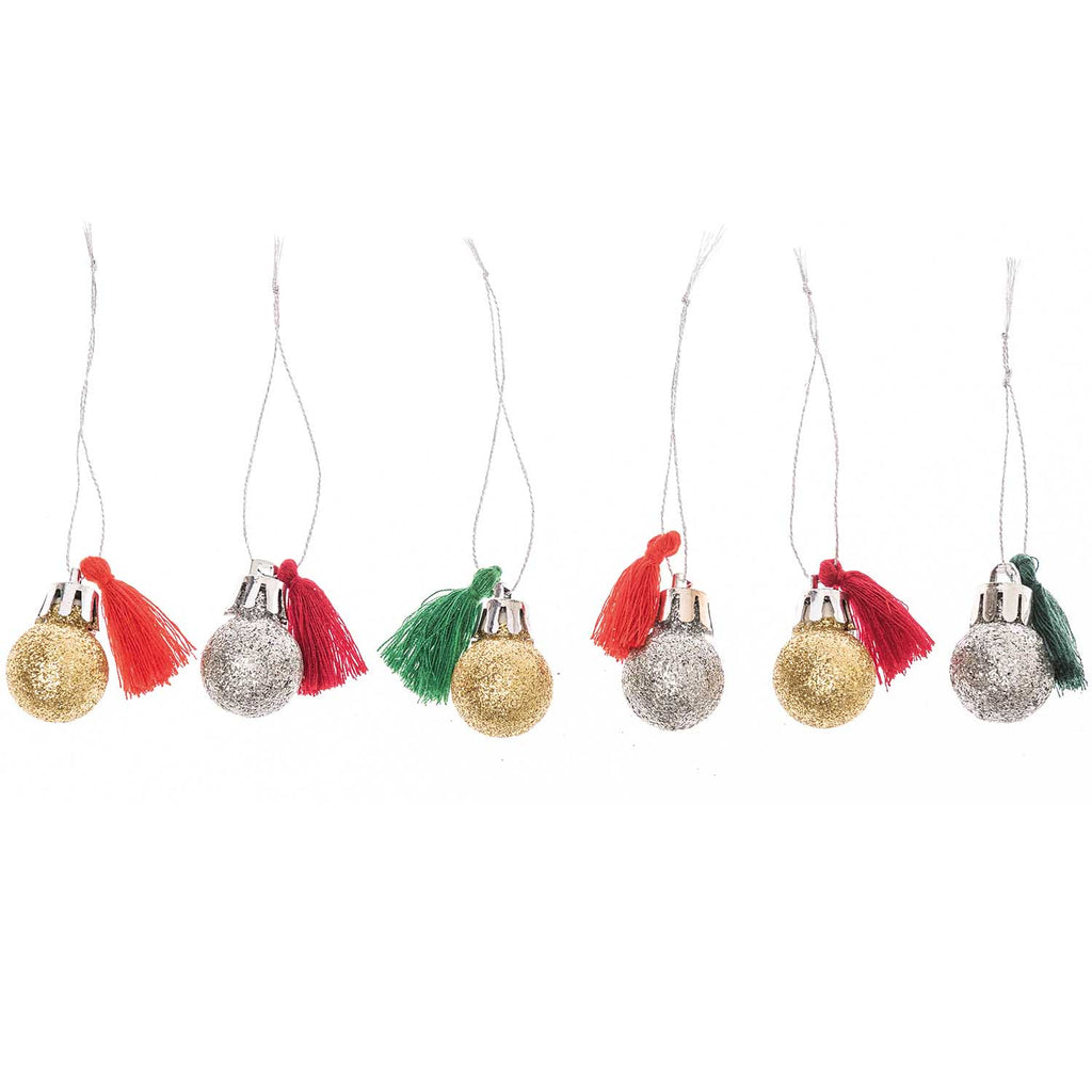 Red and Green Mini Bauble Decorations