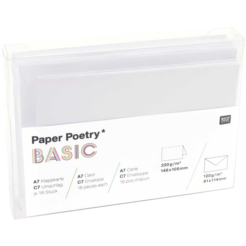Box of 15 C7 Cards and Envelopes - White
