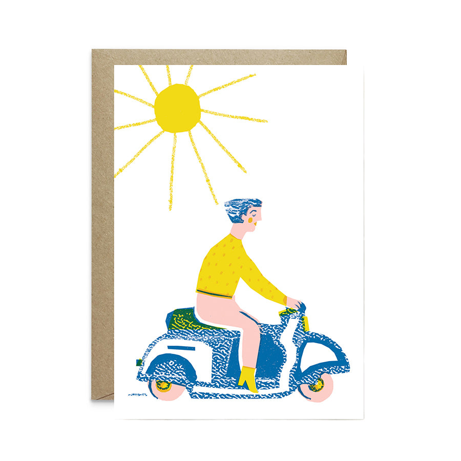 Girl on Bike Card