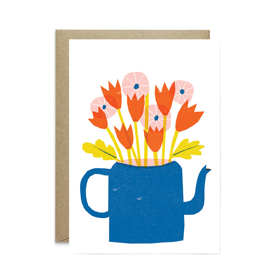 Teapot Flowers Card
