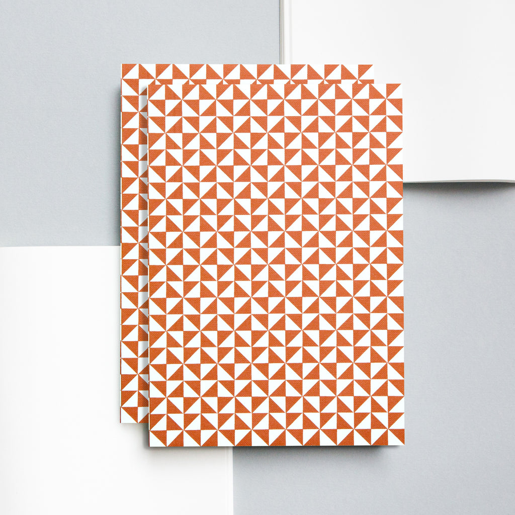 Brick Red Kaffe Print Layflat Notebook