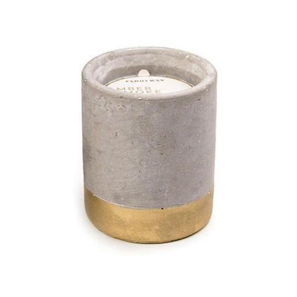 3.5oz Amber & Smoke Soywax Candle in Concrete