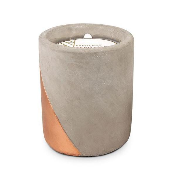 12oz Bergamot & Mahogany Soywax Candle in Concrete