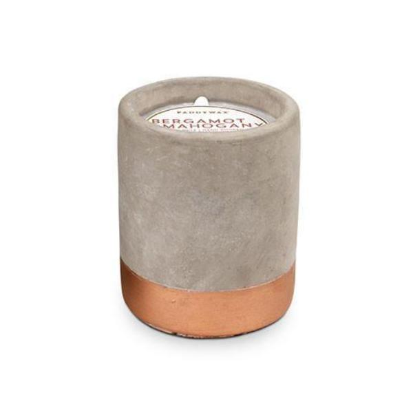 3.5oz Bergamot & Mahogany Soywax Candle in Concrete