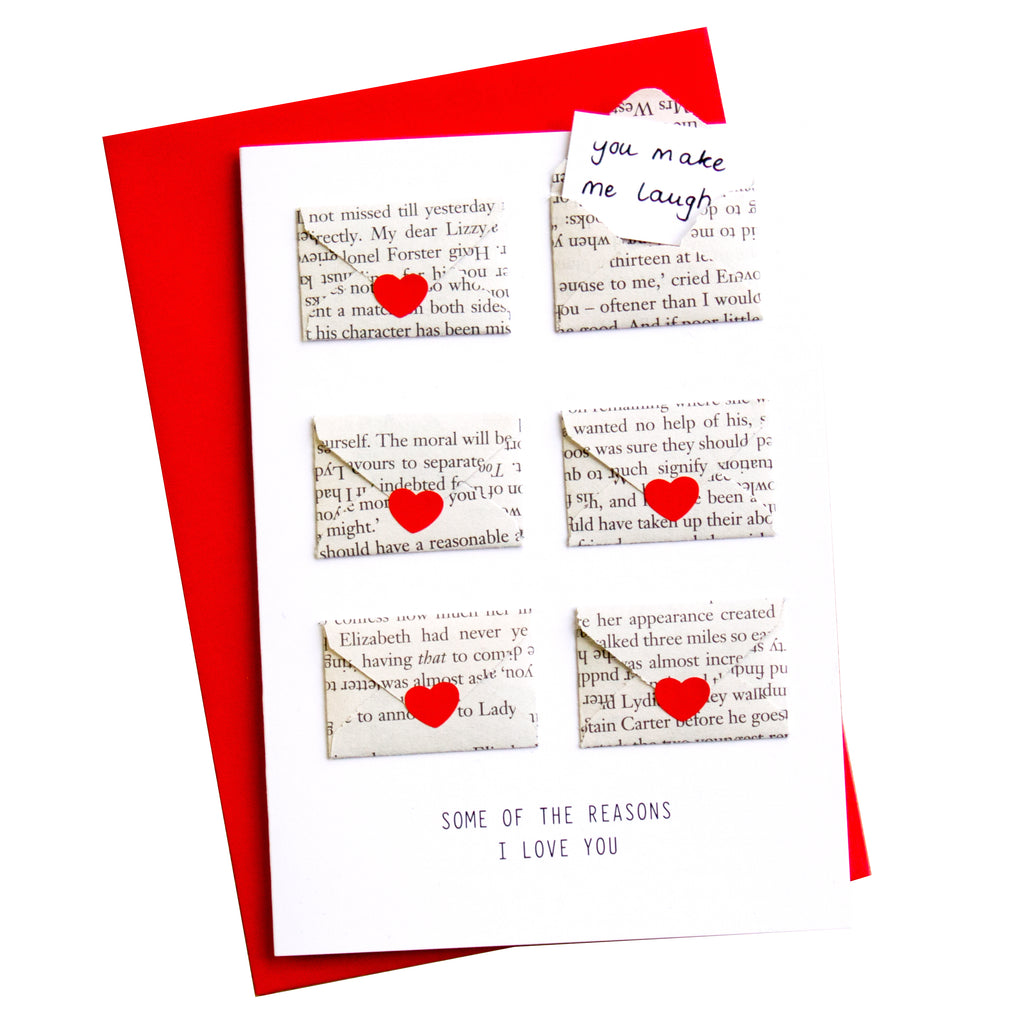 Six Love Note Mini Envelope Card