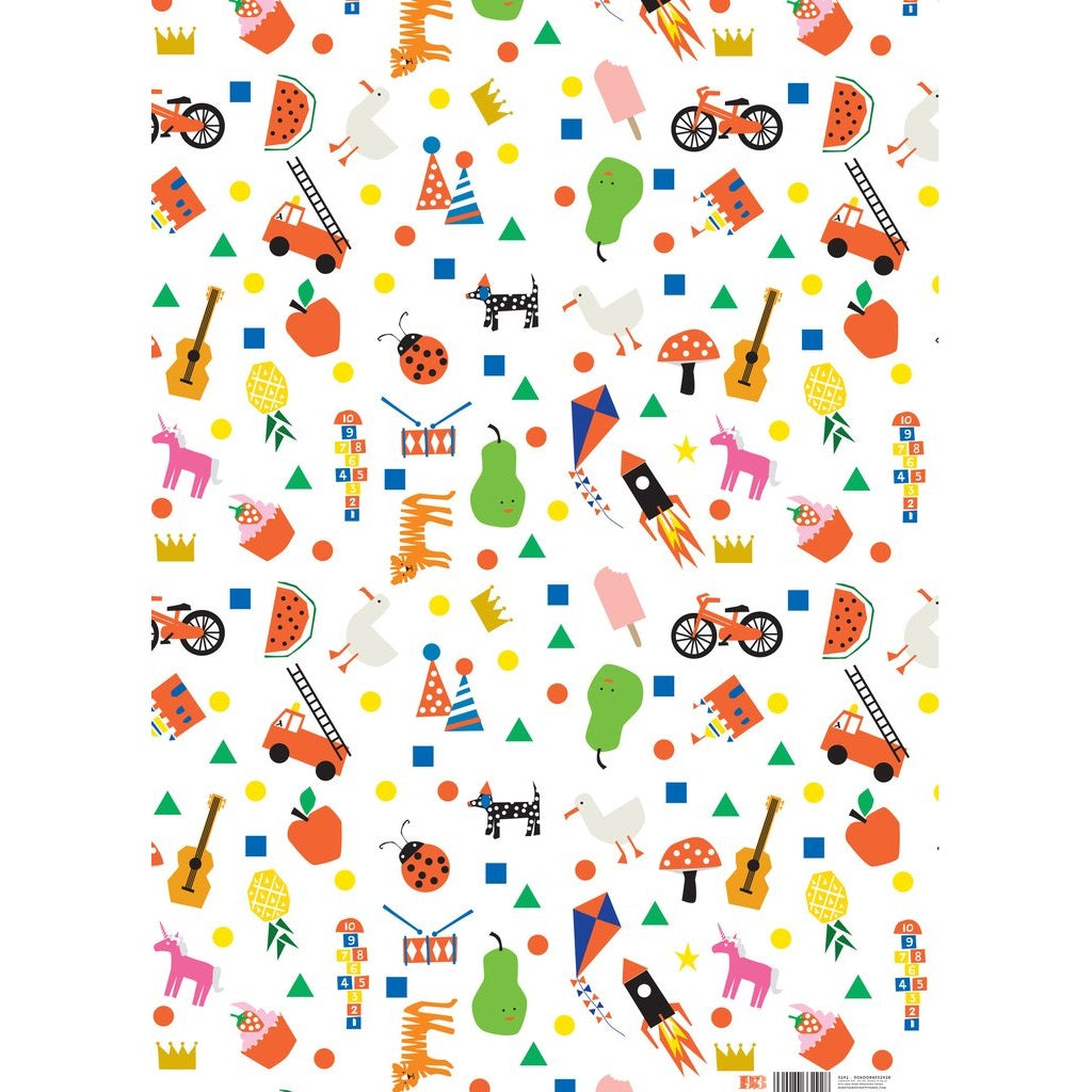 Bits and Bobs Wrapping Paper Sheet