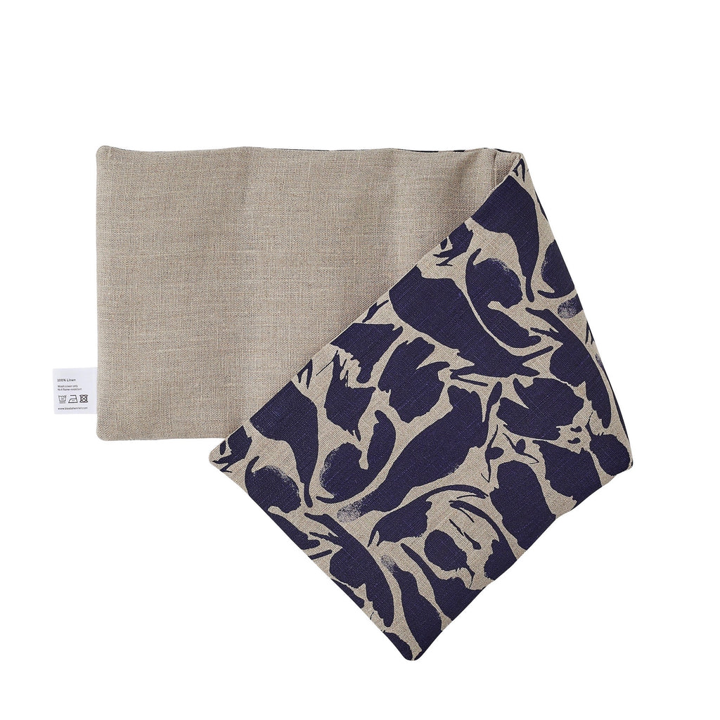 Navy Linen Hot and Cold Wheat Bag