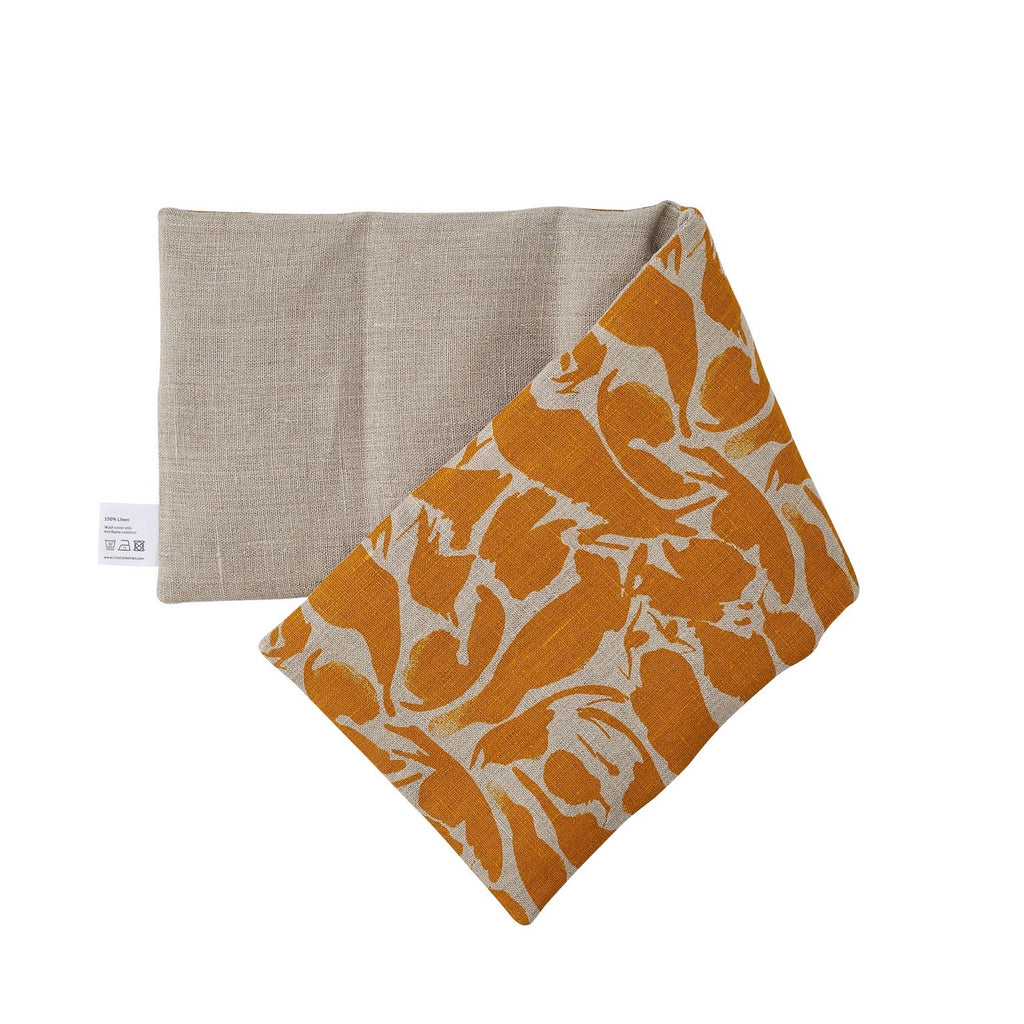 Linen Hot and Cold Wheat Bag - Mustard