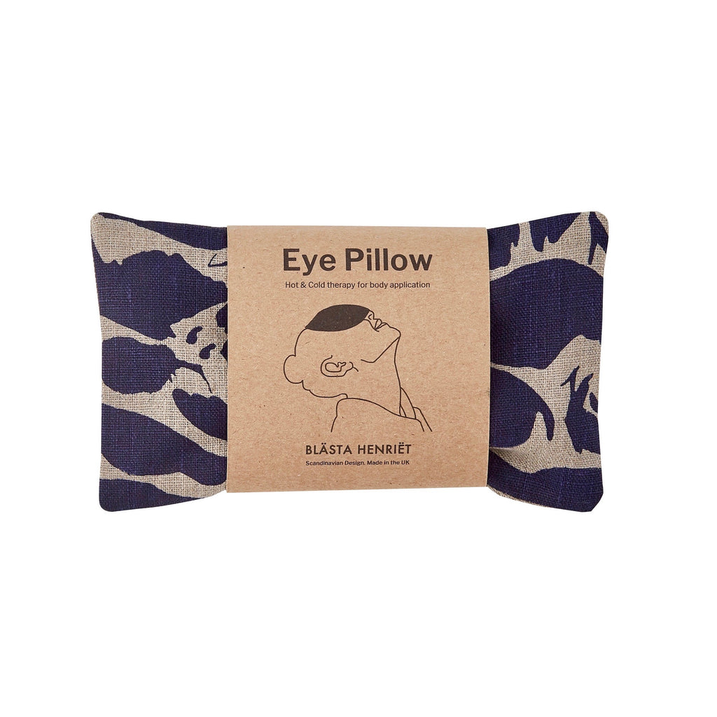 Navy Linen Hot and Cold Eye Pillow